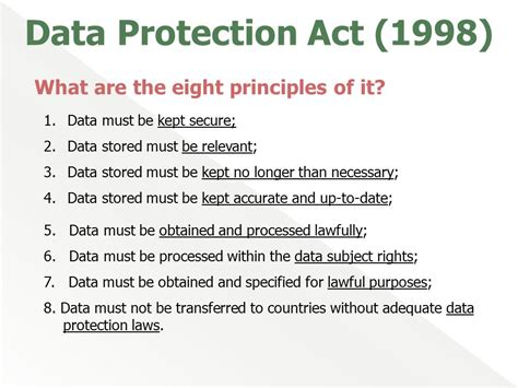 data protection act 1998 section 7 data protection act ppt download