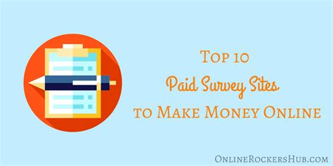 Make Money Online Surveys 2017 - top 10 paid survey sites to make money online 2017 edition