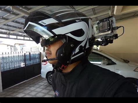Gopro 4 Dijogja testing microphone gopro di helm motor
