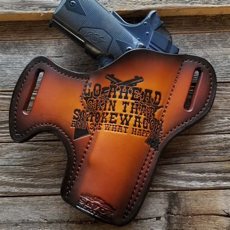 Handmade Gun Holsters - i m your huckleberry 3 holster custom leather holster