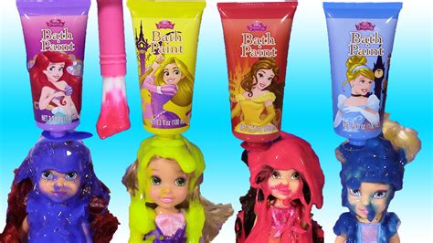 disney princess colors disney princess bath paint set mix colors paint