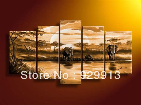 High End Wall Decor Framed 5 Panel 100 Handpainted High End Large 5 Panel Wall