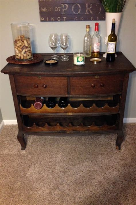 Dresser Turned Into Bar by Antique Dresser Turned Into A Wine Bar Without Compromise