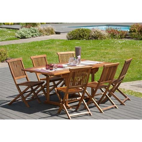 ensemble en teck huil 233 table extensible de jardin 120