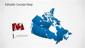 us and canada editable map editable canada map template for powerpoint slidemodel