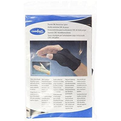 comfort cool arthritis thumb splint comfort cool arthritis thumb splint black medium right