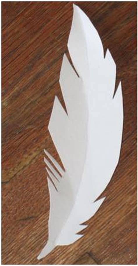 Feathers Out Of Paper - paper feathers think crafts by createforless