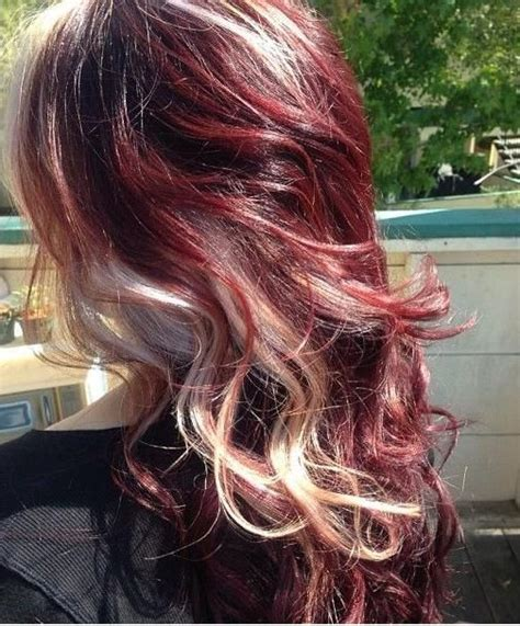 Curly Red Hair with Blonde Highlights