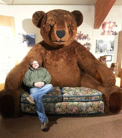 big ass couch giant teddy bear sofa incredible things