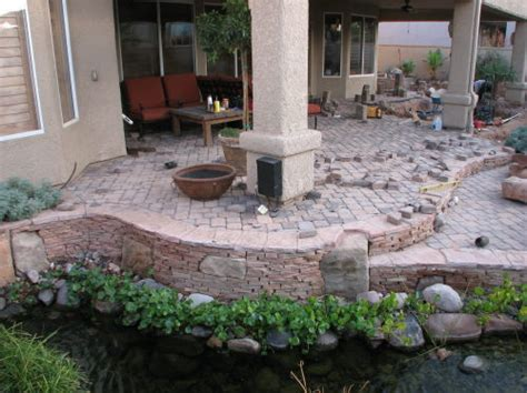 Landscape Ideas With Pavers Landscaping Around A Patio