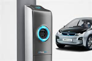 Electric Car Charging Stations Bmw Bmw Has Developed Lights Equipped With Sockets To