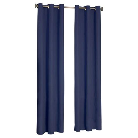 Blackout Navy Curtains Eclipse Microfiber Blackout Navy Grommet Curtain Panel 84 In Length 10708042x084nvy The Home