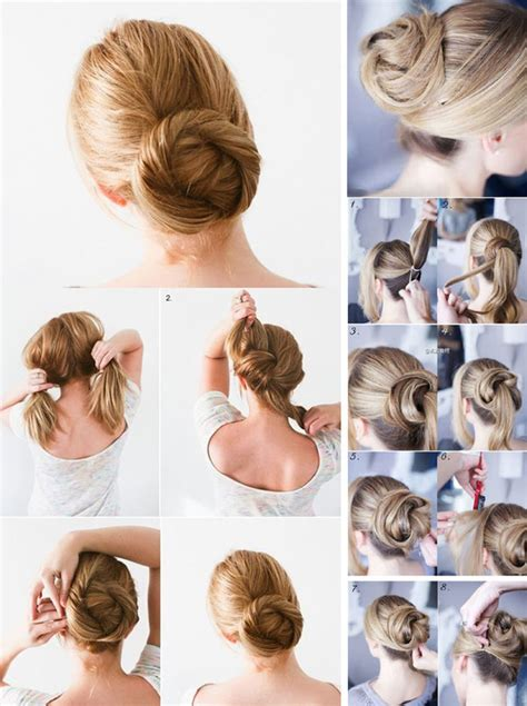 easy messy buns for shoulder length hair simple buns for medium length hair girls fashion