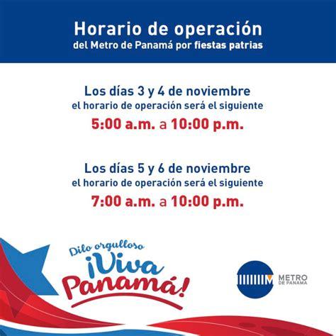 horario de servicio del metro horario de operaci 243 n del metro de panam 225 por fiestas