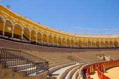 design on stock villa arena bullfighting arena at sevilla spain stock photo image