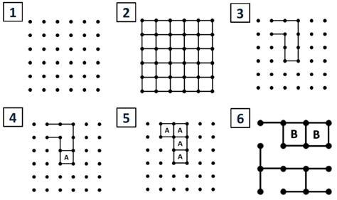 juegos cuadrados matem 225 ticas recreativas puntos y cuadrados ciencia la
