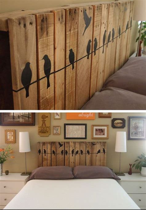diy bedroom ideas best 25 wood pallet headboards ideas on