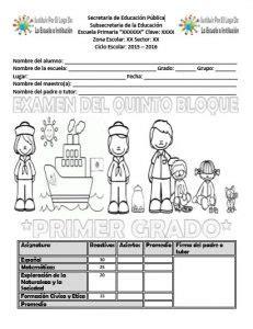 examen de quinto de primaria tercer bloque con respuestas examen del primer grado para el quinto bloque del ciclo