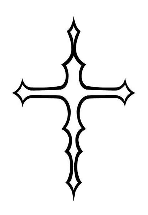 tattoo designs simple crosses simple cross drawings clipart best