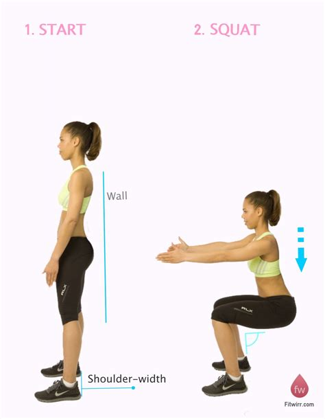 how to do wall squats squat squat workout and simple diet