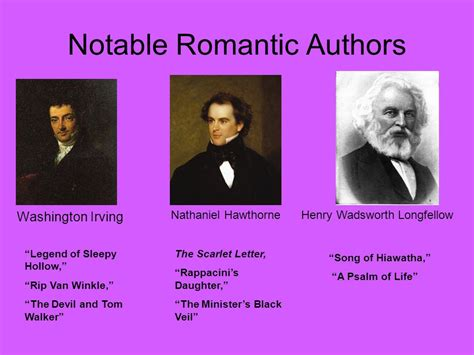 literature writers american literary periods ppt