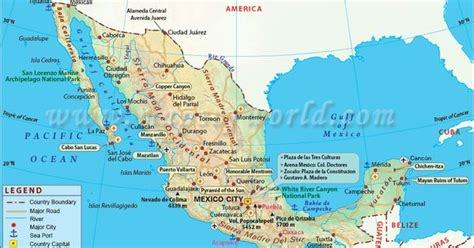 map of us cities with major airports mexico map showing the major cities airports roads
