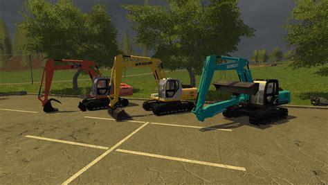 salt ls and cats kobelco excavator pack v1 0 fs17 farming simulator 17