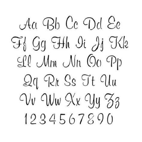 printable alphabet letter search cursive letter stencils printable google search grad
