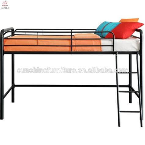 metal loft bed with slide hot sale chinese cheap metal kids loft bed with slide