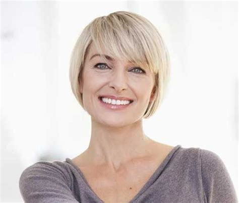 show side fring on long hair for older woman pretty short bob hairstyles with side swept bangs bob