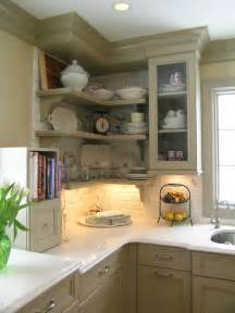 open kitchen shelf ideas five inc countertops 5 ways to make practical use of a corner kitchen cabinet
