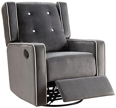 microfiber swivel rocker recliner naomi home odelia swivel gliding rocker recliner gray