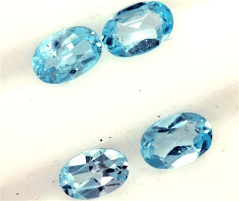 1130cts Blue Topaz blue topaz faceted 4 pcs 1 95 cts pg 1368