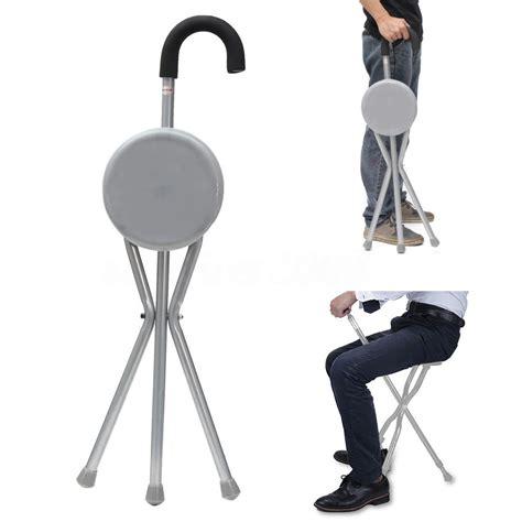walking stick with seat folding portable travel walking stick seat c stool