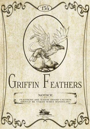 Griffin Feathers quot griffin feathers quot bottlelabel griffin