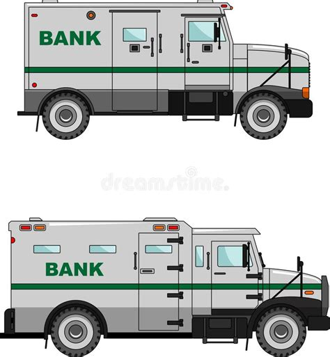 banks auto bank armored car on a white background in a flat stock