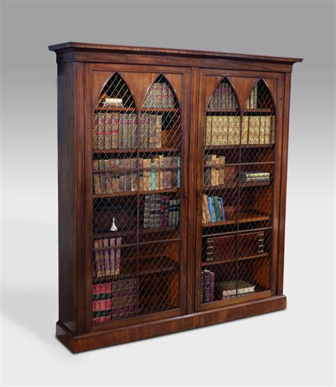 revival bookcase large antique bookcase 19th