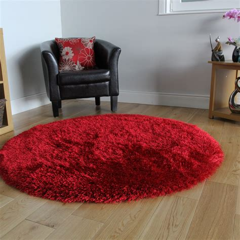 circle shaggy rug kukoon