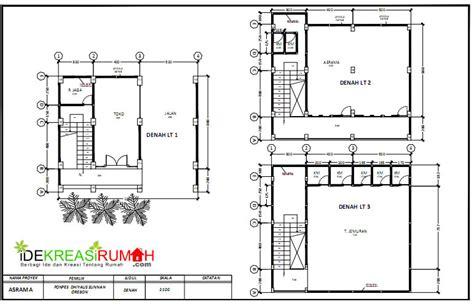 desain gambar wc sekolah desain gambar kerja asrama sekolah 3 lantai ide kreasi rumah