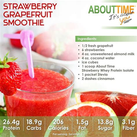 Strawberry Grapefruit Detox Smoothie by 11 Best Recipes Healthy Protein Drinks Images On