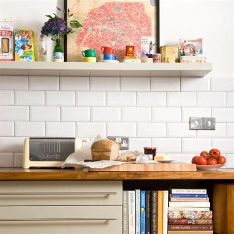 modern kitchen with white brick tiles housetohome co uk