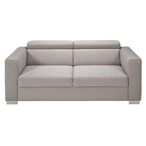 poggiatesta divano divano con poggiatesta 3 posti beige grigio in tessuto