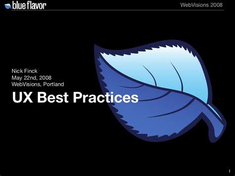 best practices in user experience ux design user experience best practices