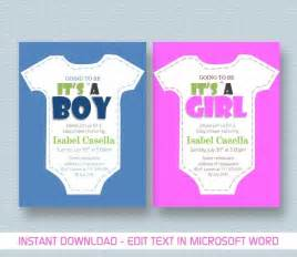 baby shower invitation template for ms word