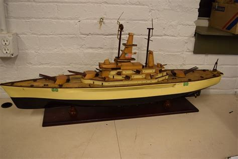 pt boat for sale ebay vintage model wood wooden wwii battleship gunboat toy pt