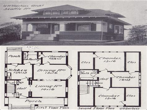 vintage floor plans vintage craftsman bungalow house plans vintage craftsman