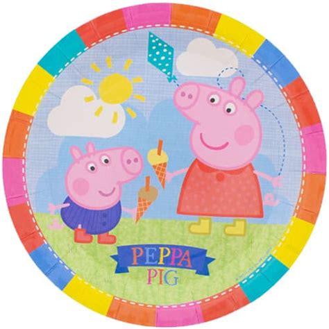 Sale Paper Diameter 3 2 Cm peppa pig theme 9 inch paper plate single partyrama co uk