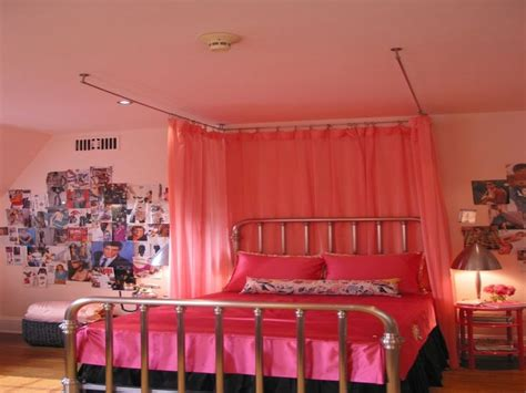 pink canopy bed curtains fascinating inspiration bedroom lovable pink themes canopy
