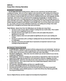 Narrative Essay by Sle Narrative Essay 8 Exles In Word Pdf