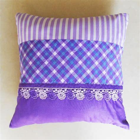 Patchwork Cushion Designs - violet patchwork cushion cover shibori designs